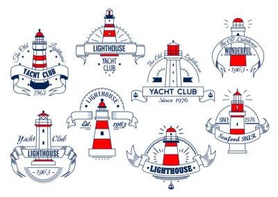 Tapeta Latarnia ikon wektorowych do klubu jachtowego lub bar