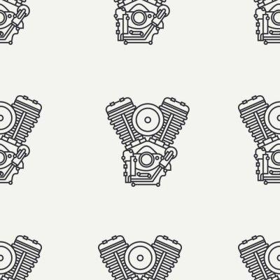 Tapeta Legendarny retro. Styl kreskówki. Motoclub Biker. Silnik benzynowy. Wolność kierowcy.