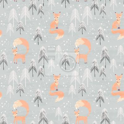 Tapeta Lisa w zimowym Lasie