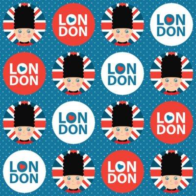 Tapeta Londyn wektora bezszwowe tło