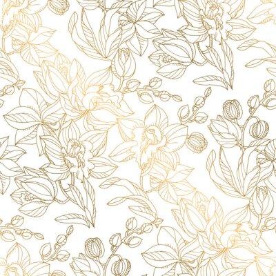 Tapeta Luksusowy elegancki storczyk kwiatowy wzór