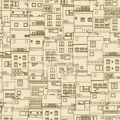 Tapeta Mała Część monochromatyczna Części Miasta