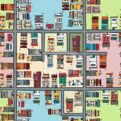 Tapeta Mapa Miasta