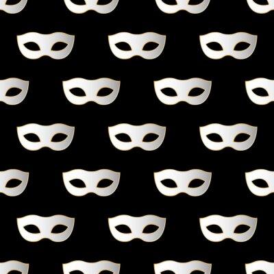 Tapeta Mardi Gras Carnival szwu z masek. Mardi Gras nieskończone tło, tekstury, wrapper. Ilustracja wektora EPS10.
