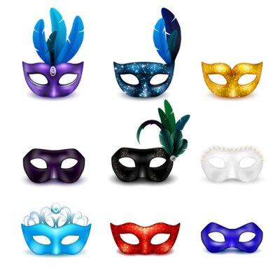 Tapeta Maska Mask Realistyczne Zestaw ikon