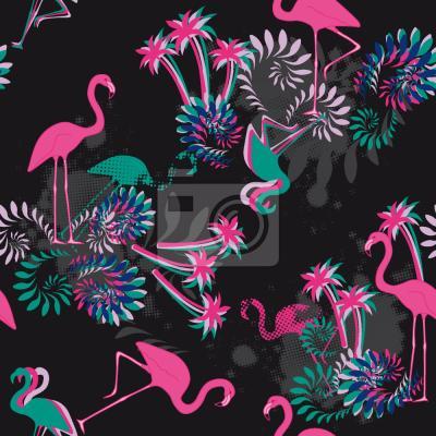 Tapeta Miami Nights Flamingo