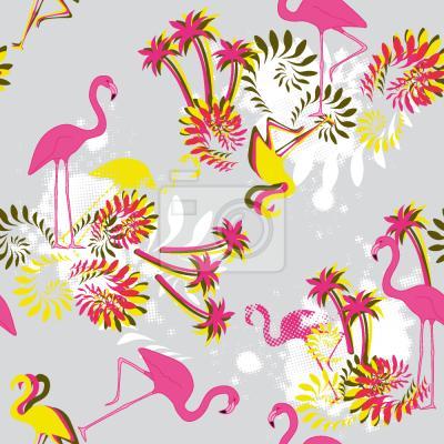 Tapeta Miami Pink Flamingo