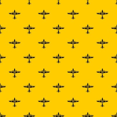 Tapeta Military aircraft pattern seamless vector repeat geometric yellow for any design