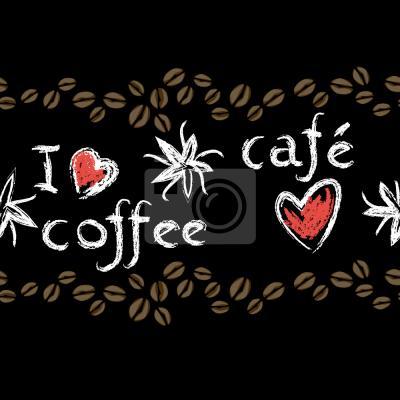 Tapeta Miłość Kawy