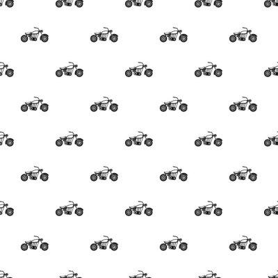 Tapeta Motobike wzór. Prosta ilustracja wzór motobike wektorowych dla sieci