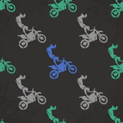 Tapeta Motocykl i rowerzystów mężczyzna wzoru ilustracja