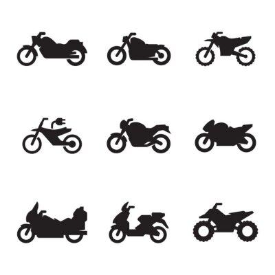 Tapeta Motocykl zestaw ikon
