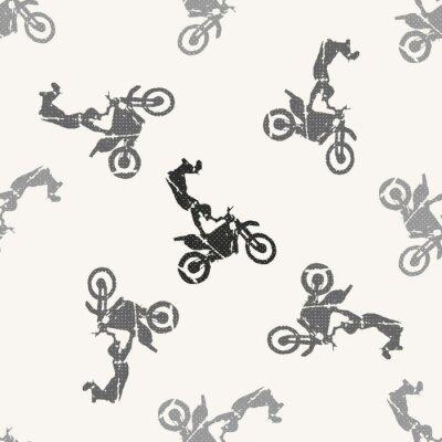 Tapeta Motorbike and bikers man pattern illustration