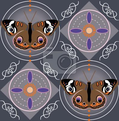 Tapeta Motyl ptaków Szary