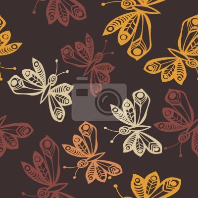 Tapeta Motyle Jesienią