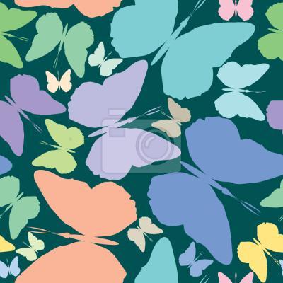 Tapeta Motyle na Niebiesko