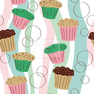Tapeta Muffiny Kolorowe