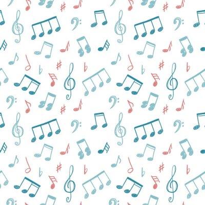 Tapeta Music notes texture