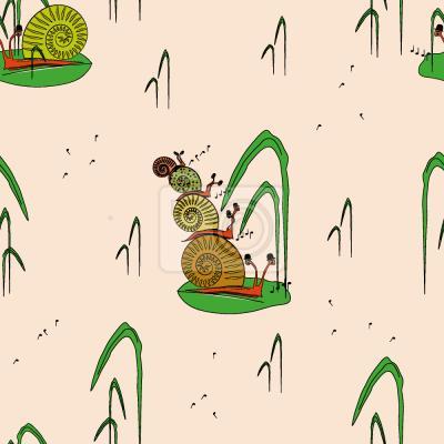 Tapeta Muzyczne ślimaki