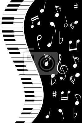 Muzyka Notatki Z Fortepianem ćwierćnuta Note Pół Klucz Wiolinowy