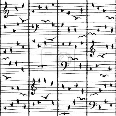 Tapeta Muzyka Ptaki