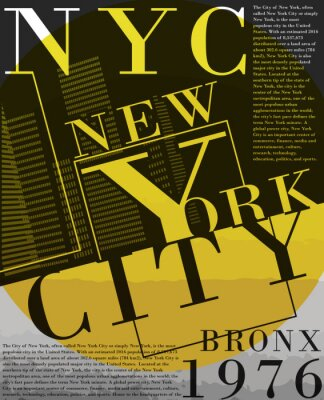 Tapeta Newyork tee typografia graficzna