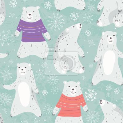 Tapeta Niedźwiedzie Polarne I Taniec Śnieżynki