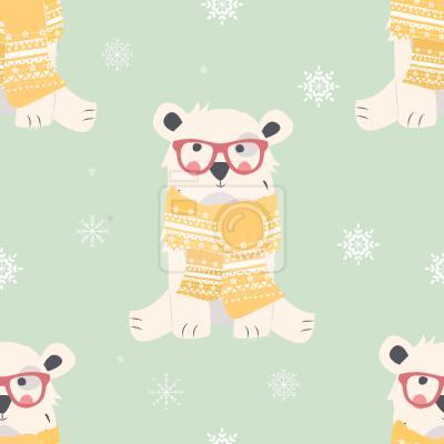 Tapeta Niemowlę Polarne Niedźwiedzie