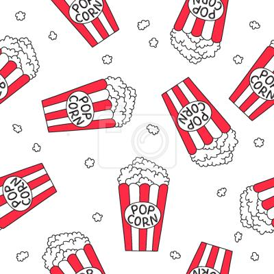 Tapeta Noc filmowa popcornu