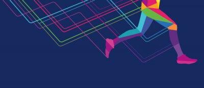 Tapeta Nóg szparagową przejrzyste kolory