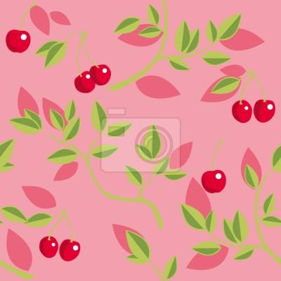 Tapeta Oddziały Różowe wiśniowe