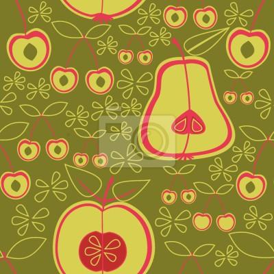Tapeta Ogród Zielonych Owoców