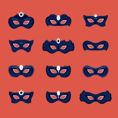 Tapeta Ostatki maskują ikona ikony wektorowego ilustracyjnego graficznego projekt