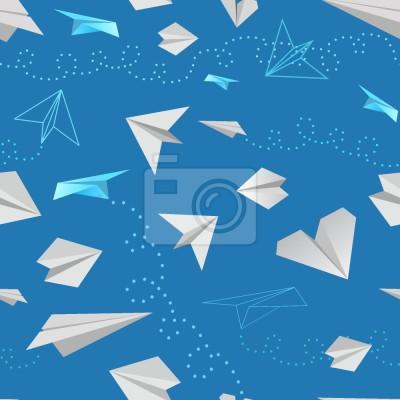 Tapeta papierowe samolociki