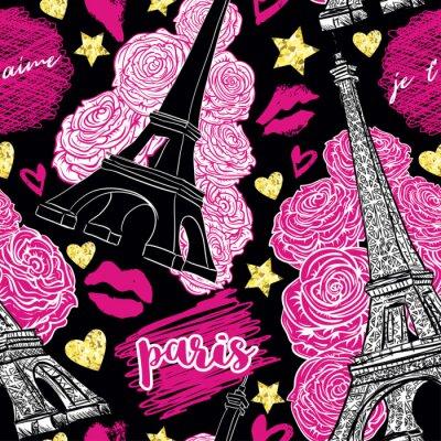 Tapeta Paryż. Ilustracji wektorowych.