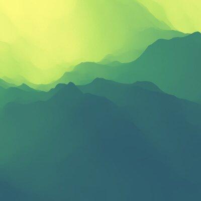Tapeta Pejzaż górski. Górzystym. Zachód słońca.