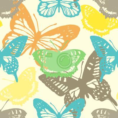 Tapeta Pieczęć Motyl