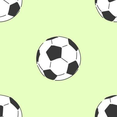 Tapeta Piłka nożna soccerball wzór, ręcznie rysowane styl wektor doodle projekt ilustracje