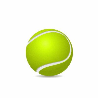 Tapeta Piłka tenisowa na białym tle