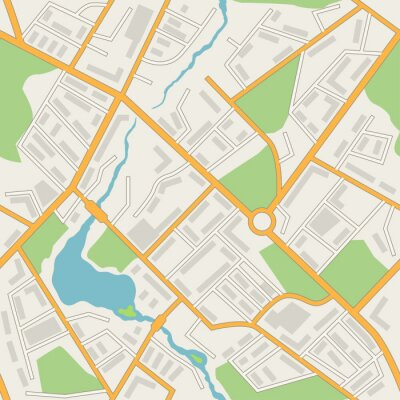 Tapeta Plan miasta streszczenie bezszwowe tło wektor wzór.
