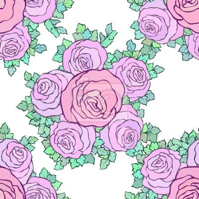 Tapeta Pływające Bukiet Róż