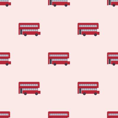 Tapeta Podró? Y Euro podró? Y podró? Y projektowanie podwójnego decker bus bezszwowych wzór london transportu ilustracji wektorowych.