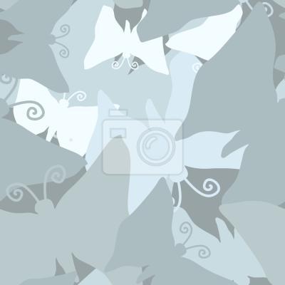 Tapeta Podróż Niebieskich Motyle
