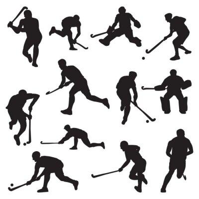 Tapeta Pole hokej na trawie Sportowiec sylwetka zestawu