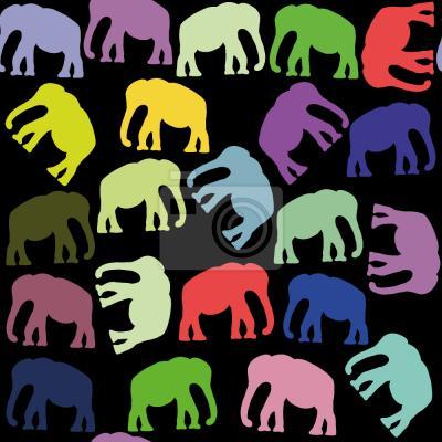 Tapeta Pop Art Słonie