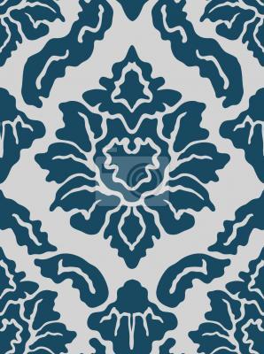 Tapeta Pop Barokowy Niebieski