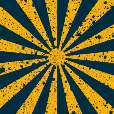 Tapeta Porysowany grunge tle w postaci promieniami słonecznymi. Ilustracji wektorowych