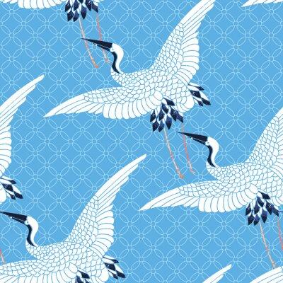 Tapeta powtórzony wzór ptaków
