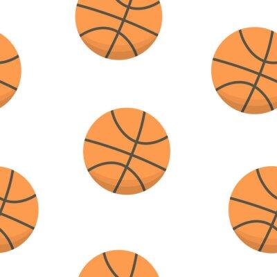 Tapeta Projekt tła sportowego. piłki do koszykówki wektor wzór.