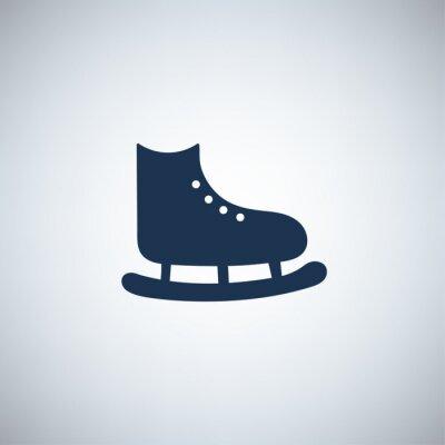 Tapeta prosty symbol - łyżwy